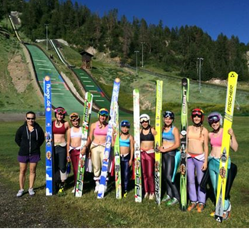 Fly girls training at Steamboat