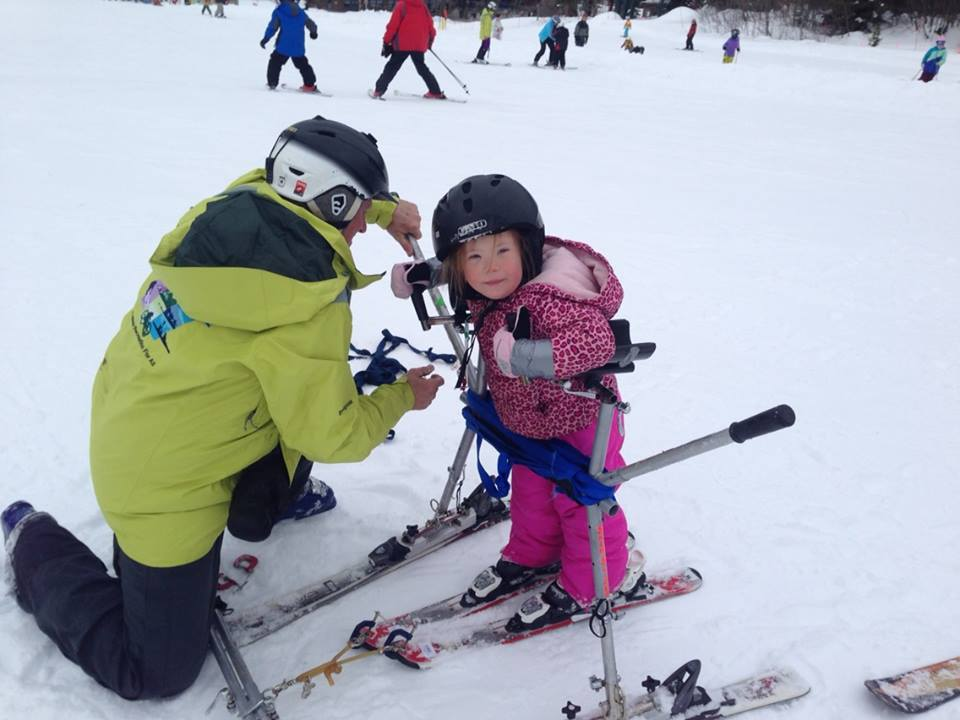 RaeAnne gears up or a day of fun on the snow